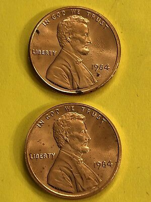 Penny 1984D 1984P Uncirculated Free Shipping
