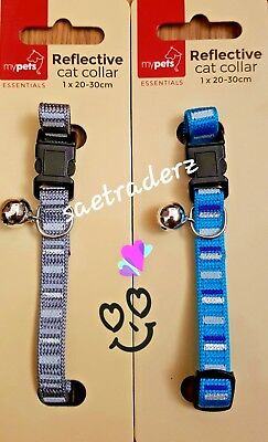 Pet Puppy Cat Kitten Soft Reflective CAT Collar Safety Buckle. FREE DILIVERY...