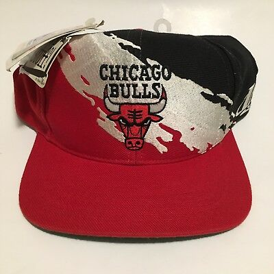 Vintage Rare Ds Logo Athletic Black Dome Chicago Bulls Splash Snapback Hat  Cap 062e57f4a9c