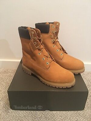 704ce6a105 New Timberland Men's Boot 6-Inch Premium Waterproof Boots 10061 Wheat  Nubuck 7.5