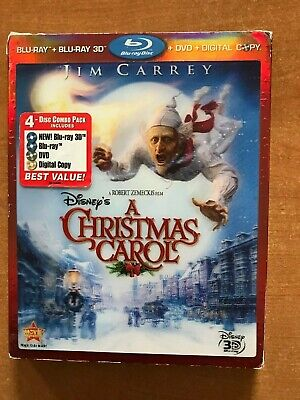 Disney's A Christmas Carol Blu-ray/DVD, 2010,4-Disc Set, 3D Include Digital Code