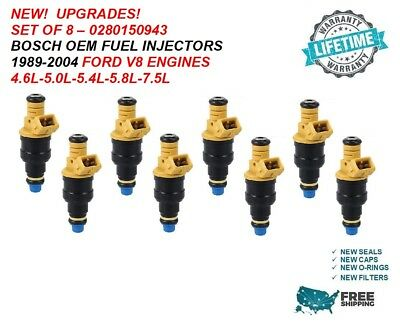 8 88-91 FORD 7.5 BOSCH III UPGRADE FUEL INJECTOR SET 4-HOLE NOZZLE