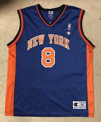 eb0bd305c Vintage 90s NBA New York Knicks Latrell Sprewell  8 Champion Jersey Sz 40  Medium