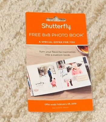 Shutterfly 8X8 Hard Cover Photo Book Code expires 2/28/19