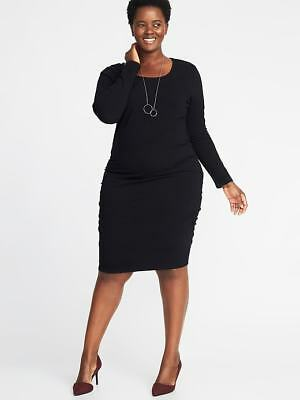 07b36270dd0 OLD NAVY BODYCON Black Jersey Tank Maternity Dress-XL-NWT -  12.99 ...