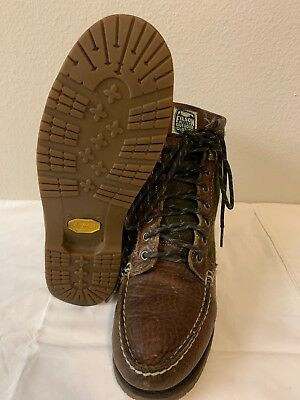 86eaa379c08 FILSON X SEBAGO KETTLE BOOTS Green Wool & Brown Leather Vibram Size 8.5M