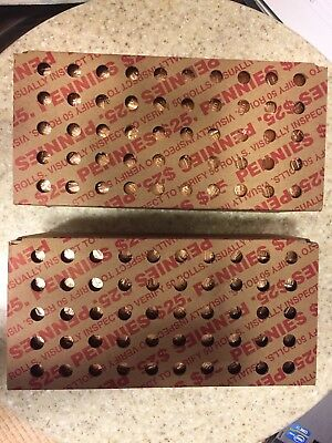 2019 P Lincoln Cent Rolls - 100 Rolls- (2 boxes)