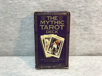 The Mythic Tarot Deck Juliet Sharman Burke Complete 78 Illustrated Cards 1986