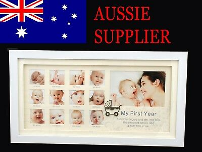 Baby First Year Boy/Girl Gallery Photo Frame Baby Shower Present Gift