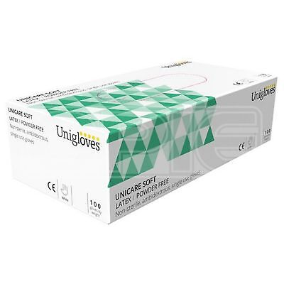 Unicare Latex Powder Free Gloves - Medium (GS0013) - Pack of 100