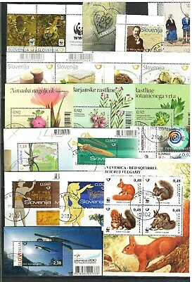 Slovenia 2010 - 2011☀ Lot of stamps & blocks ☀ CTO - Never hinged