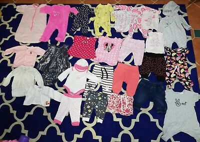 Bulk Lot Of Clothes For Baby Girl - Size 000, 0-3 Months, some never worn