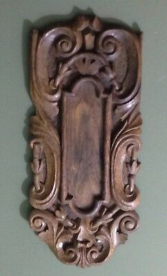 Antique Carved Wall Hanging Wooden Panel - Surround For Push Plate?