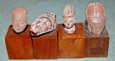 4 - Ancient  Greco-Roman Greek Terracotta Head Bust Figure Artifact - Figures