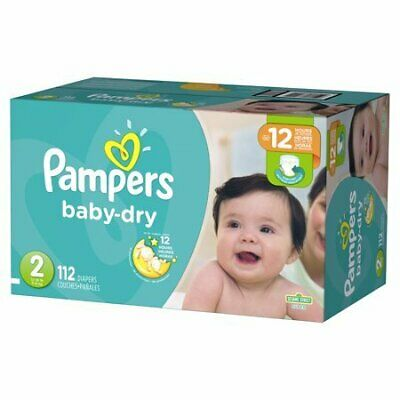 Pampers Baby Dry Size 2 (112 Diapers)