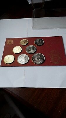 Set Of 7 Yugoslav Coins.