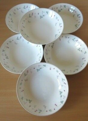 Royal Doulton Expressions *STRAWBERRY FAYRE* 6 x 17cm CEREAL BOWLS V.G.COND