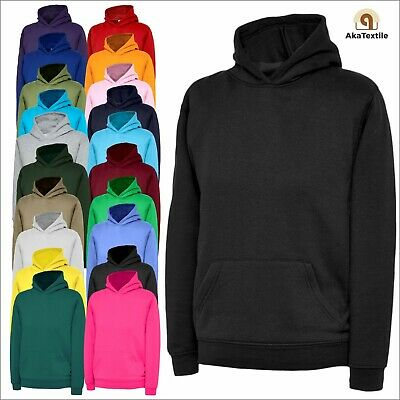 Kids Pullover Hoodie UNEEK Classic Hooded Sweatshirt Children's Plain Jumper TOP
