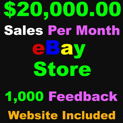 eCommerce Website Full Shopping Cart & eBay Store for Sale with support
