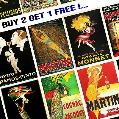 Vintage Popular Retro Art Deco Posters Wall Art Prints A4/A3 - Choice of 6