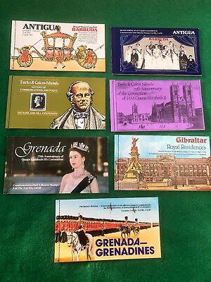 Souvenir Stamp Booklets Job Lot British Colonies & Territories