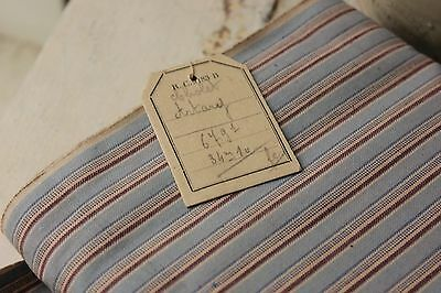 Vintage fabric French UNUSED clothing shirting upholstery weight  PER YARD