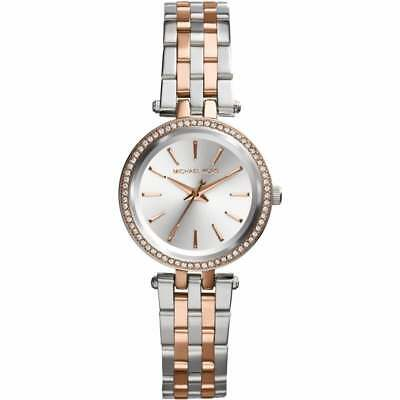 95b5185a7360 Michael Kors Watches MK3298 Ladies Mini Darci Silver   Rose Gold Watch