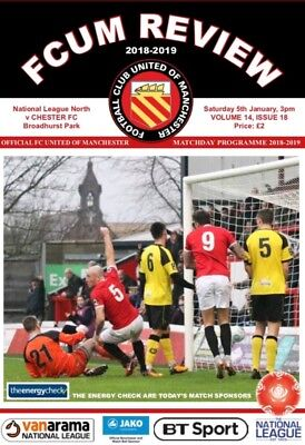 FC United of Manchester v Chester 2018/19 2019 National North Programme