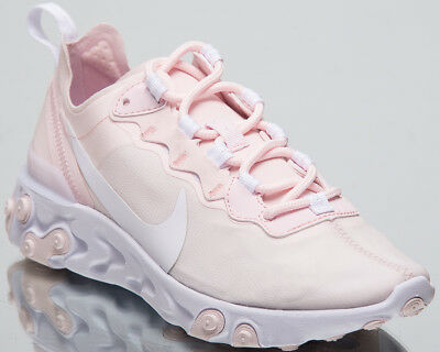 b79534c9bb7 Nike Women s React Element 55 New Lifestyle Shoes Pale Pink Sneakers BQ2728- 600