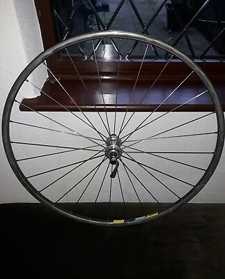 Mavic open 4 cd front wheel, mavic 501 hub. vintage