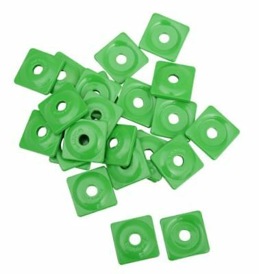 "Woodys Square Aluminum Plate 5/16"" Green 24pc ASW2-3780"