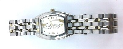 Coca Cola Unisex Watch With Quartz Movement Silver Band Works New Battery