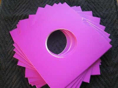 50 Purple Card 7 Inch Record Sleeves Uk. Made Free Uk Postage !!! Mix & Match !