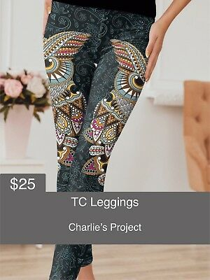 3d787459f2ff4c Brand New with Tags TC Damask Owl Leggings Charlies Project Fits Sizes: 16  - 22