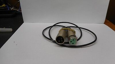 CHRISTIE LITES//SWITCHCRFT 3PIN XLR MALE TO FEMALE 4/' DATA CBLE #9441 LOT OF 10