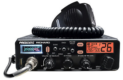 President Richard 10 Meter Amateur Ham Radio Transceiver AM/FM/PA 12v 7 Color LC