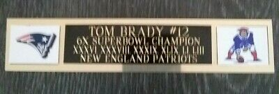 Tom Brady Engraving Nameplate 6x Superbowl Champion Autographs-original