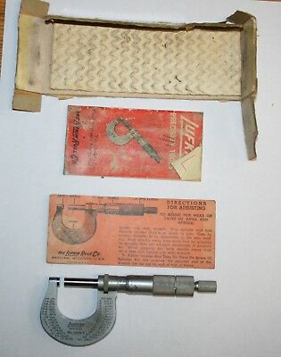 VINTAGE LUFKIN RULE CO MICROMETER CALIPER No 6141 V
