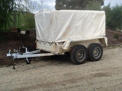 Trailer Dual Axle Galvanised with Canopy