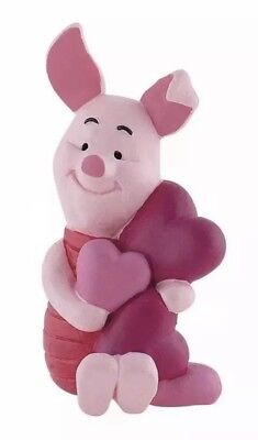 Winnie The Pooh Piglet With Hearts 12326 Disney Bullyland Toy Cake Topper Figure