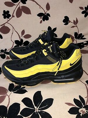 7a51357e8bad Nike Air Max 95 Size 14 Frequency Pack Tour Yellow White Black Mens  AV7939-001