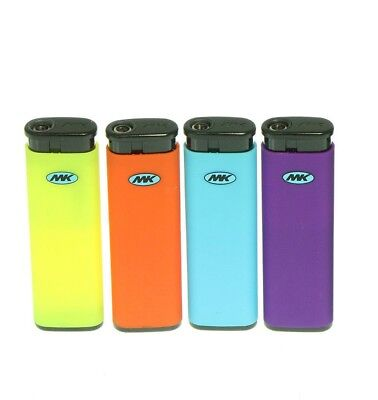 4 Full Size MK JET TORCH Assorted Color Lighters Windproof Refillable Lighter
