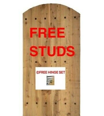 Wooden Garden Bespoke Gates- Made To Measure. Flat Or Arch Top.free Hinges+Studs