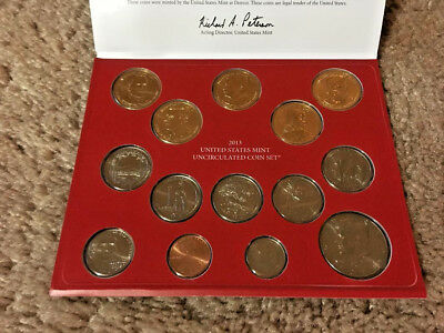 2013 US Mint Uncirculated Coin Set(s) P and D (28 Coins) Prez Dollars & State Q