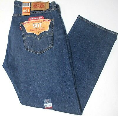 9a7004a11c4 Men's Levi's 501 Purple Rain Blue Straight Leg Stretch Button Fly Jeans -  2485