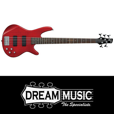 Ibanez SR205 TR 5 String Bass Guitar Transparent Red 2019 SAVE $100 off RRP$499
