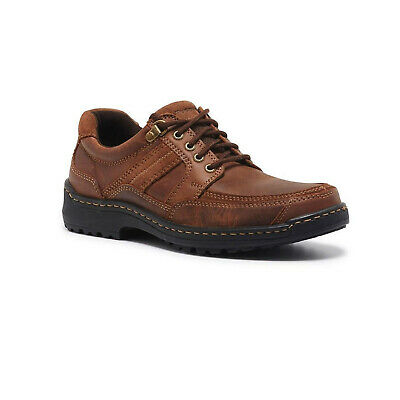 HUSH PUPPIES ALBATROSS Leather Shoes Lace Up Extra Wide Work Orthotic Friendly