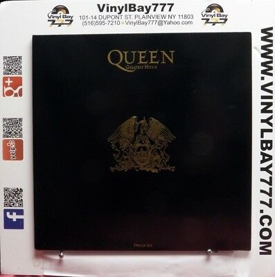 """Used 12"""" 2xLP M- Queen Greatest Hits II 1991 Parlophone UK Import PMTV 2"""