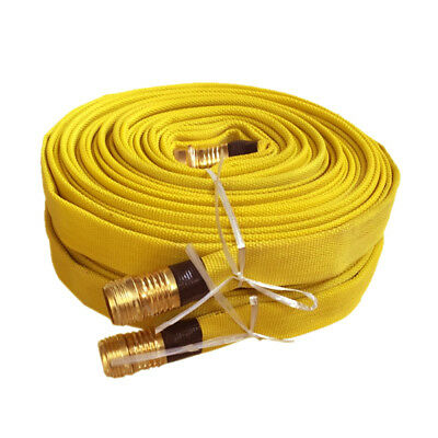 Pack of 2 FIRE HOSE, 3/4IN.X 25 FT., YELLOW, 250 PSI