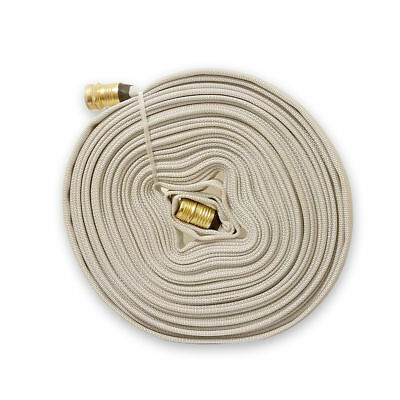 Multipurpose Fire Hose with Garden Thread, WHITE, 75Ft., 250 PSI